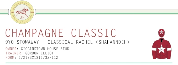 Ante-Post Article Horse Name Header Image - Champagne Classic